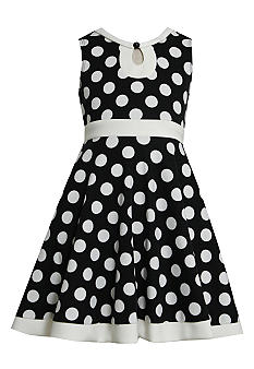 Bonnie Jean Dot Knit Dress Girls 7-16