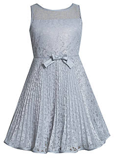 Bonnie Jean® Pleated Fit and Flare Dress Girls 7-16