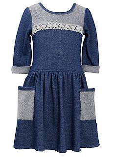 Bonnie Jean® French Terry Denim Dress Girls 7-16