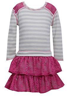 Bonnie Jean® Stripe Lace Dress Girls 7-16