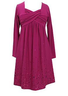 Bonnie Jean® Knit Cross Body Sequin Dress Girls 7-16