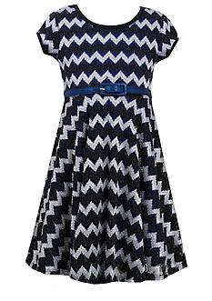 Bonnie Jean® Chevron Knit Dress Girls 7-16