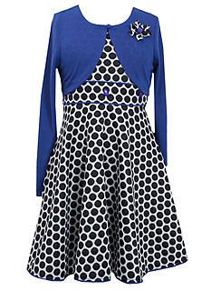 Bonnie Jean® Dot Cardigan Dress Girls 7-16