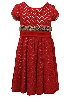 Bonnie Jean® Chevron Crochet Knit Dress Girls 7-16