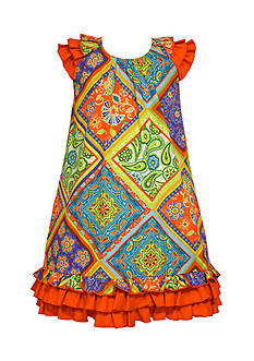 Bonnie Jean Printed Bandana Poplin Dress Girls 7-16