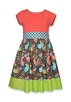 Bonnie Jean Stripe to Printed Knit Dress Girls 7-16