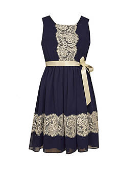 Bonnie Jean Chiffon Lace Dress Girls 7-16