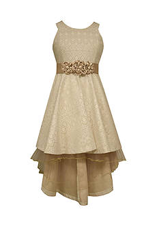 Bonnie Jean Bonded Lace High Low Dress Girls 7-16