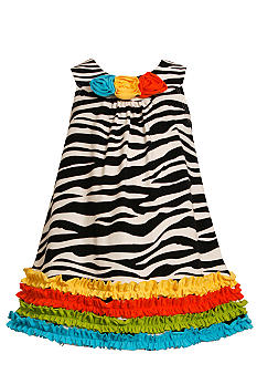 Bonnie Jean Zebra Print Knit Dress Girls 4-6X
