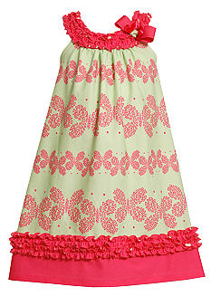 Bonnie Jean Butterfly Print Dress Girls 4-6X