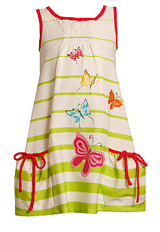 Bonnie Jean Butterfly Stripe Knit Dress Girls 4-6X