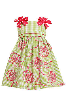 Bonnie Jean Soutache Seersucker Dress Girls 4-6X