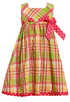 Bonnie Jean Seersucker Pull Through Dress Girls 4-6X
