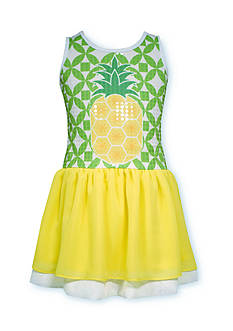 Bonnie Jean Pineapple Sequin Dress Girls 4-6x