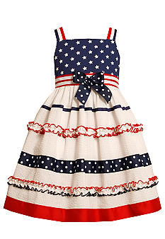 Bonnie Jean Americana Seersucker Dress Girls 4-6X
