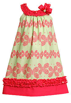 Bonnie Jean Butterfly U-Neck Dress Girls 7-16