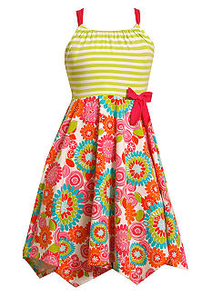 Bonnie Jean Stripe Hanky Hem Dress Girls 7-16