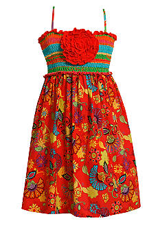 Bonnie Jean Stripe Floral Dress Girls 7-16