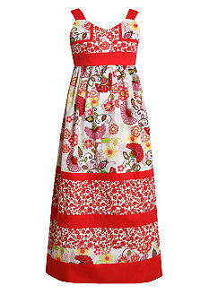 Bonnie Jean Paisley Maxi Dress Girls 7-16