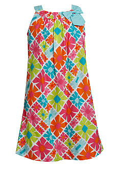 Bonnie Jean Neon Floral Print Dress Girls 7-16