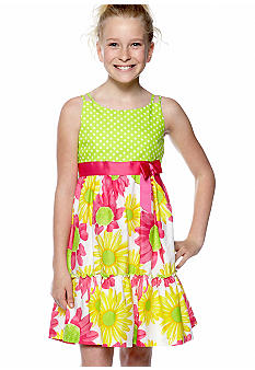 Bonnie Jean Dot Daisy Dress Girls 7-16