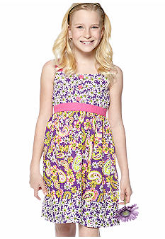 Bonnie Jean Paisley Button Dress Girls 7-16