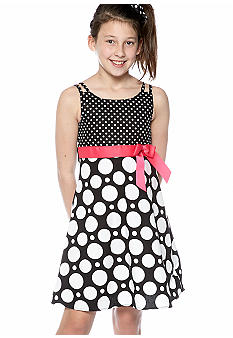 Bonnie Jean Dot Bow Dress Girls 7-16