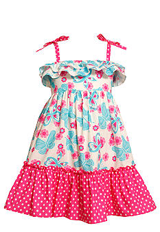 Bonnie Jean Butterfly Dot Dress Girls 7-16