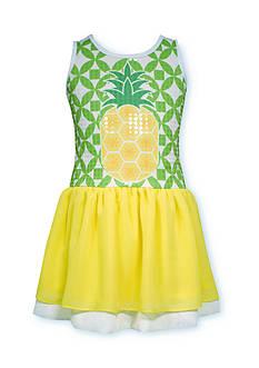 Bonnie Jean Sequin Pineapple Drop Waist Dress Girls 7-16