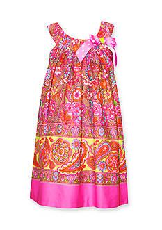 Bonnie Jean Paisley Print Bow Dress Girls 7-16