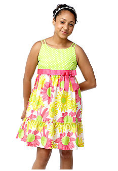 Bonnie Jean Daisy Dot Dress Girls Plus