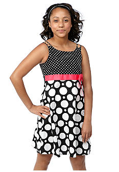 Bonnie Jean Dot Dress Girls Plus