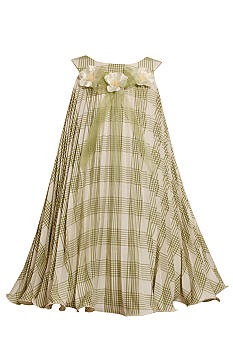 Bonnie Jean Plaid Linen Dress Girls 4-6X