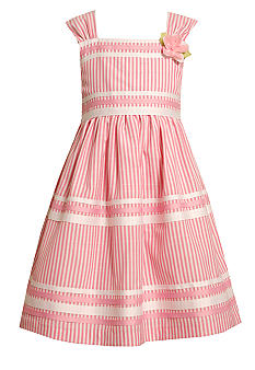 Bonnie Jean Stripe Linen Dress Girls 4-6X