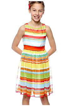 Bonnie Jean Multi Stripe Dress Girls 7-16