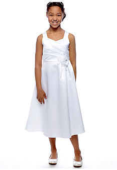 Bonnie Jean Crossover Bodice Dress Girls 7-16