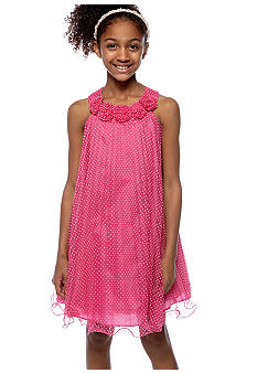 Bonnie Jean Mini Dot Dress Girls 7-16