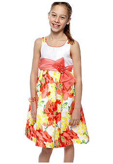 Bonnie Jean Floral Dress Girls 7-16