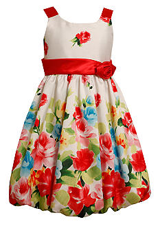 Bonnie Jean Coral Flower Bubble Dress Girls 7-16