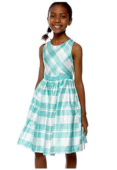 Bonnie Jean Plaid Dress Girls 7-16
