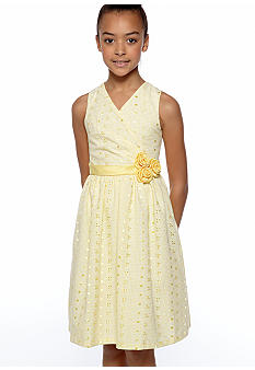Bonnie Jean Eyelet Crossover Dress Girls 7-16