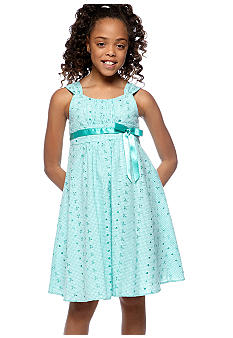 Bonnie Jean Emma Eyelet Dress Girls 7-16