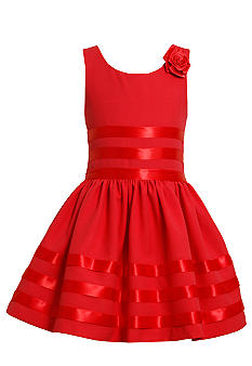 Bonnie Jean® Ribbon Trimmed Dress Girls Plus