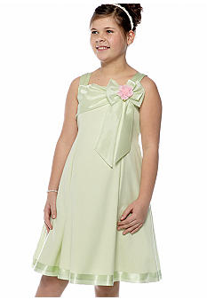 Bonnie Jean A-Line Organza Dress Girls Plus