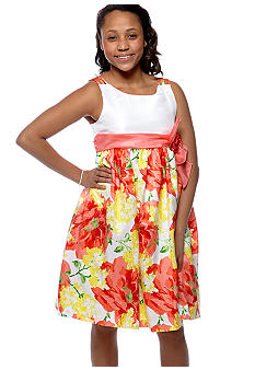 Bonnie Jean Floral Dress Girls Plus