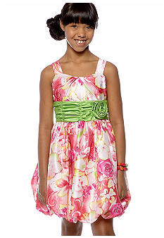 Bonnie Jean Floral Bubble Dress Girls Plus