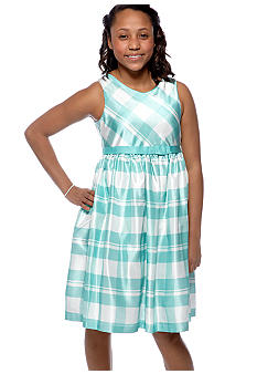 Bonnie Jean Plaid Dress Girls Plus