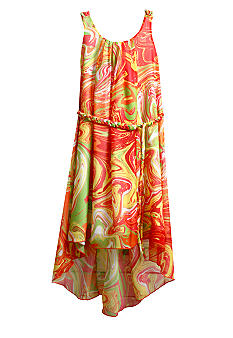Bonnie Jean Chiffon Swirl Dress Girls 4-6X
