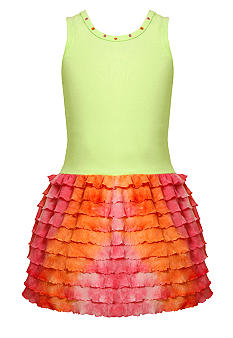 Bonnie Jean Tie Dye Eyelash Dress Girls 4-6X