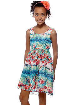 Bonnie Jean Multi Hi Low Dress Girls 7-16